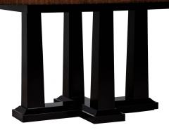 Custom Modern Walnut Dining Table with Sunburst Top - 1800154