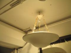 Custom Plaster Chandelier with Brass Chain - 342055