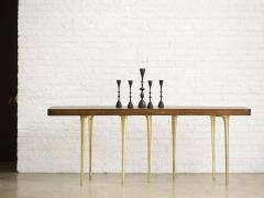 Customizable Thicket Console Table Wood and Cast Aluminum by AKMD Collection - 1468333