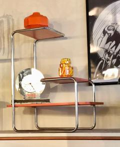 Czech Bauhaus Streamlined Tubular Chrome Table or Plant Stand - 1343436