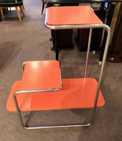 Czech Bauhaus Streamlined Tubular Chrome Table or Plant Stand - 1343438
