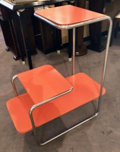 Czech Bauhaus Streamlined Tubular Chrome Table or Plant Stand - 1343439