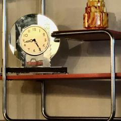 Czech Bauhaus Streamlined Tubular Chrome Table or Plant Stand - 1343440