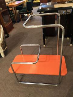 Czech Bauhaus Streamlined Tubular Chrome Table or Plant Stand - 1343441