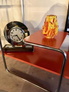 Czech Bauhaus Streamlined Tubular Chrome Table or Plant Stand - 1343442