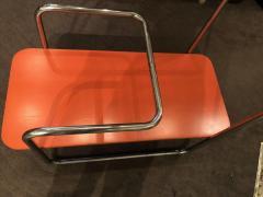 Czech Bauhaus Streamlined Tubular Chrome Table or Plant Stand - 1343443