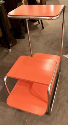 Czech Bauhaus Streamlined Tubular Chrome Table or Plant Stand - 1343444