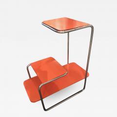Czech Bauhaus Streamlined Tubular Chrome Table or Plant Stand - 1344426