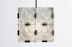 Czech Cast Glass Ceiling Lamp circa 1950 - 935642