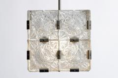 Czech Cast Glass Ceiling Lamp circa 1950 - 935643