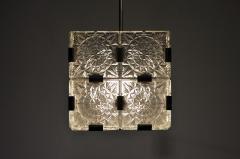 Czech Cast Glass Ceiling Lamp circa 1950 - 935644