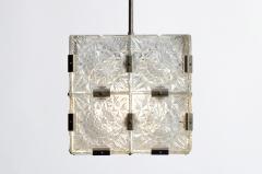 Czech Cast Glass Ceiling Lamp circa 1950 - 935648