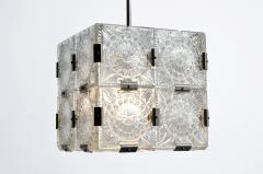 Czech Cast Glass Ceiling Lamp circa 1950 - 935649
