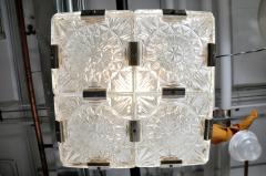Czech Cast Glass Ceiling Lamp circa 1950 - 935650