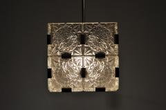 Czech Cast Glass Ceiling Lamp circa 1950 - 935651