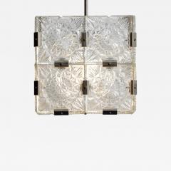 Czech Cast Glass Ceiling Lamp circa 1950 - 938019