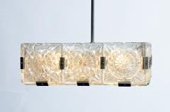 Czech Cast Glass Ceiling Lamp circa 1950 - 935689