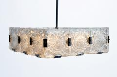 Czech Cast Glass Ceiling Lamp circa 1950 - 935694