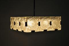 Czech Cast Glass Ceiling Lamp circa 1950 - 935696
