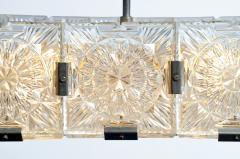 Czech Cast Glass Ceiling Lamp circa 1950 - 935697