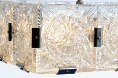 Czech Cast Glass Ceiling Lamp circa 1950 - 935699