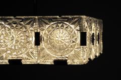 Czech Cast Glass Ceiling Lamp circa 1950 - 935700