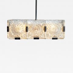 Czech Cast Glass Ceiling Lamp circa 1950 - 938021