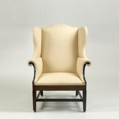 Philadelphia Mahogany Molded Leg Upholstered Easy Chair Circa 1785 - 11224