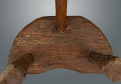 D Shaped 19th Century Rustic Stool - 1233829