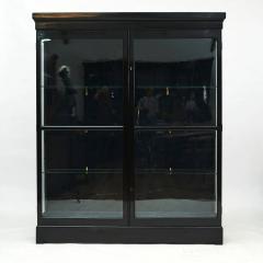 DANISH ART DECO BLACK POLISHED VITRINE CABINET - 2052920