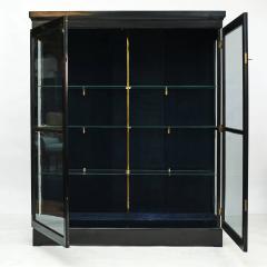 DANISH ART DECO BLACK POLISHED VITRINE CABINET - 2052922