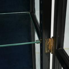 DANISH ART DECO BLACK POLISHED VITRINE CABINET - 2052924