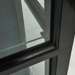 DANISH ART DECO BLACK POLISHED VITRINE CABINET - 2052928