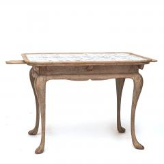 DANISH ROCOCO PAINTED AND TILE TOP TABLE LATE 18TH CENTURY - 897098