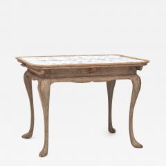 DANISH ROCOCO PAINTED AND TILE TOP TABLE LATE 18TH CENTURY - 899364