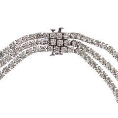 DIAMOND 219 CARAT STATEMENT OPERA PLATINUM NECKLACE - 2153038