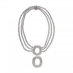 DIAMOND 219 CARAT STATEMENT OPERA PLATINUM NECKLACE - 2153840