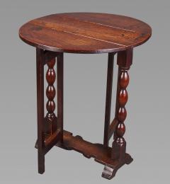 DIMINUTIVE 17TH CENTURY OAK GATELEG SIDE TABLE - 771562