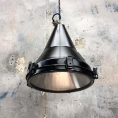 Daeyang Electric Company Ltd 1970s Black Vintage Industrial Conical Ceiling Pendant by Daeyang - 1166547