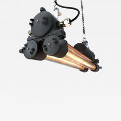 Daeyang Electric Company Ltd 1970s Vintage Industrial Black Flameproof Edison Twin Striplight by Daeyang - 1165900