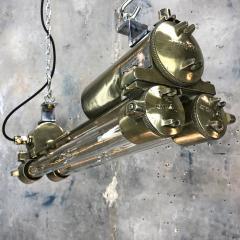 Daeyang Electric Company Ltd Retro Industrial Edison Brass Glass Tube Flameproof Striplight - 1128445
