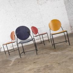 Dakota Jackson Postmodern dakota jackson vik ter dining chairs red yellow orange blue - 1765191