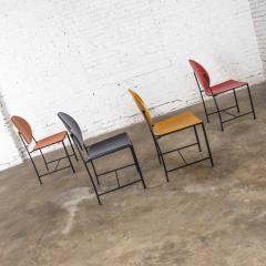 Dakota Jackson Postmodern dakota jackson vik ter dining chairs red yellow orange blue - 1765192