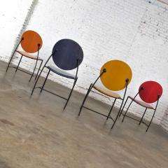 Dakota Jackson Postmodern dakota jackson vik ter dining chairs red yellow orange blue - 1765193