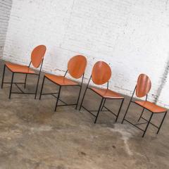 Dakota Jackson Postmodern dakota jackson vik ter dining chairs red yellow orange blue - 1765194