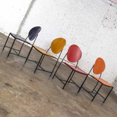 Dakota Jackson Postmodern dakota jackson vik ter dining chairs red yellow orange blue - 1765201
