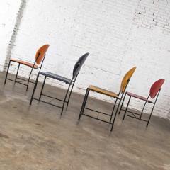 Dakota Jackson Postmodern dakota jackson vik ter dining chairs red yellow orange blue - 1765203