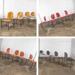 Dakota Jackson Postmodern dakota jackson vik ter dining chairs red yellow orange blue - 1765205