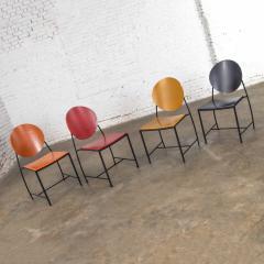 Dakota Jackson Postmodern dakota jackson vik ter dining chairs red yellow orange blue - 1765231