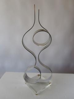 Dan Murphy American Modern Abstract Expressionist Polished Steel Sculpture Dan Murphy - 1326593